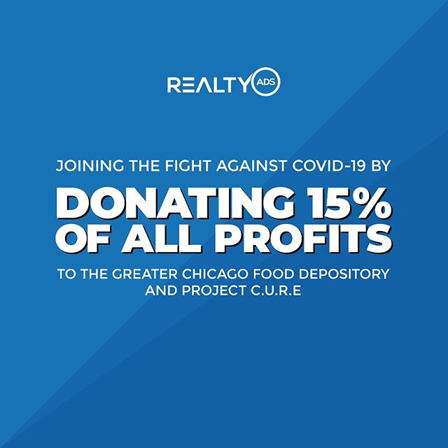 RealtyAds Donating 15% of Profits to Fight Covid-19